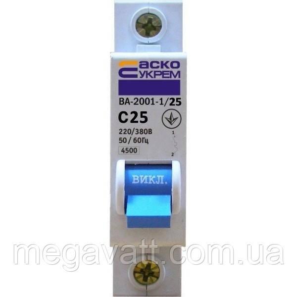 Выключатель Аско ВА 2001  40 А - МегаВатт-Прибор в Киеве