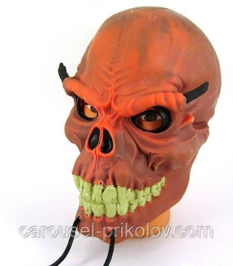 Маска Череп рогатый на Хэллоуин