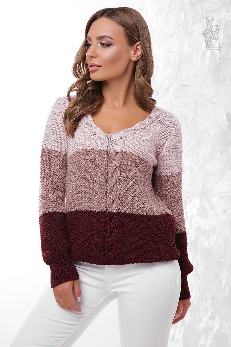 Вязаный женский свитер Рэйн-1 из шерсти и акрила