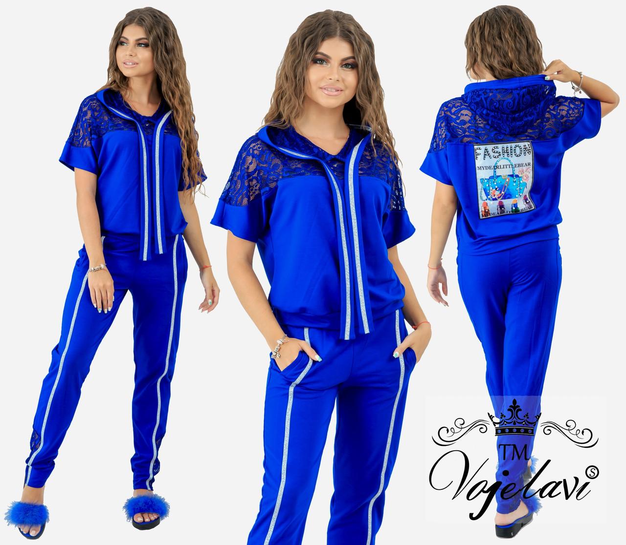 4d41482f676 Женский спортивный костюм с гипюром 1037 оптом и в розницу ...