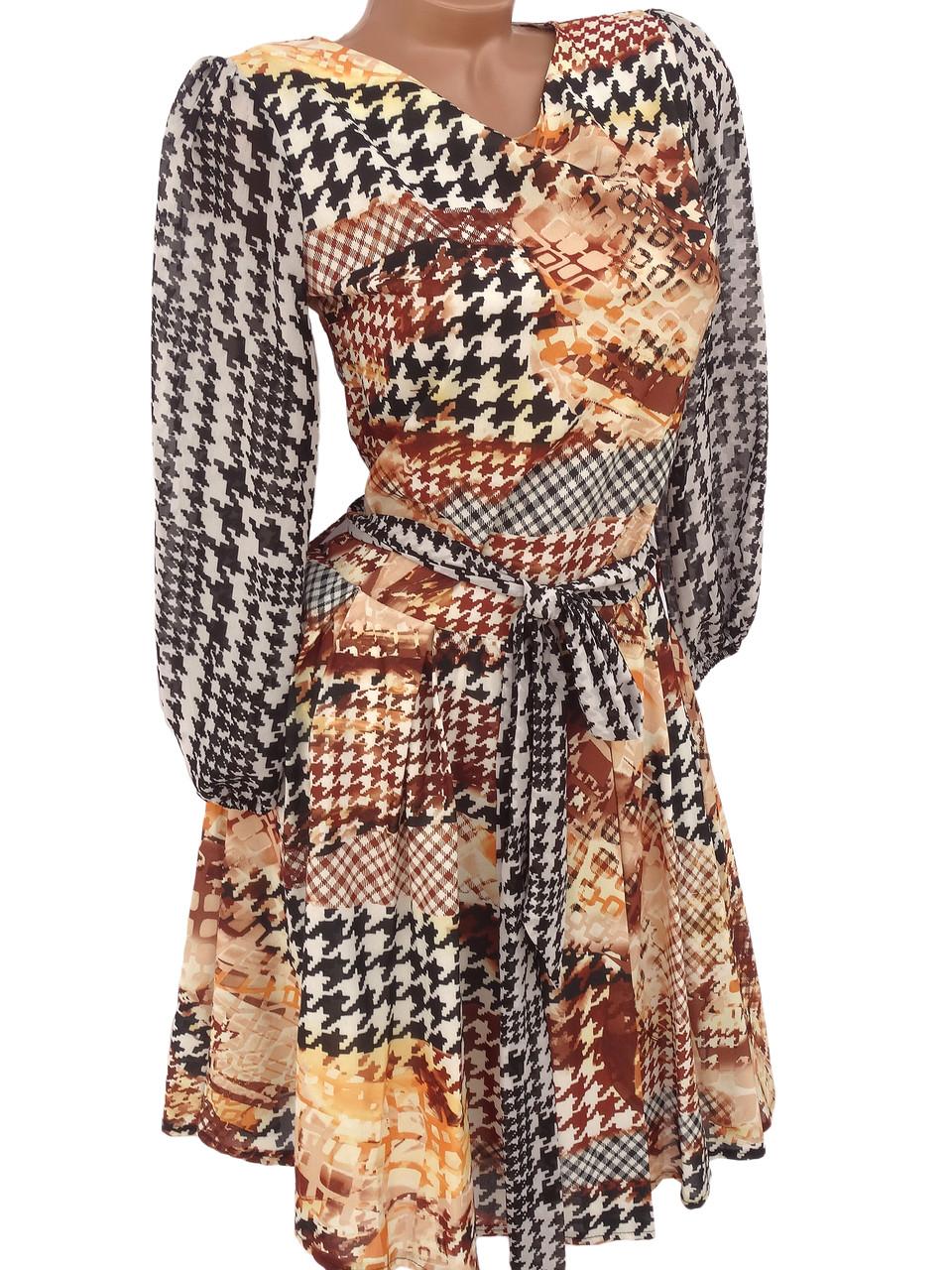 Шифоновые платья на подкладке (42)