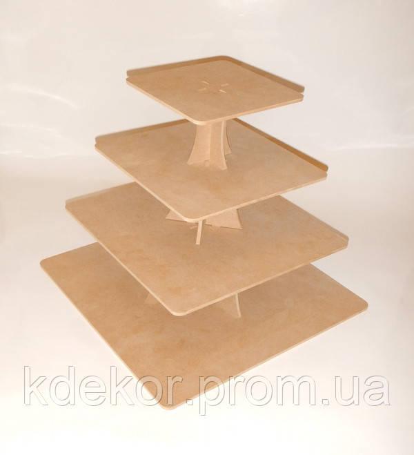Подставка для торта и капкейков заготовка для декора