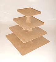 Подставка для торта и капкейков заготовка для декора, фото 1