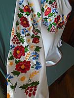 Вишиванка жіноча на білому шифоні з вишивкою гладдю 609dbe7b44f74