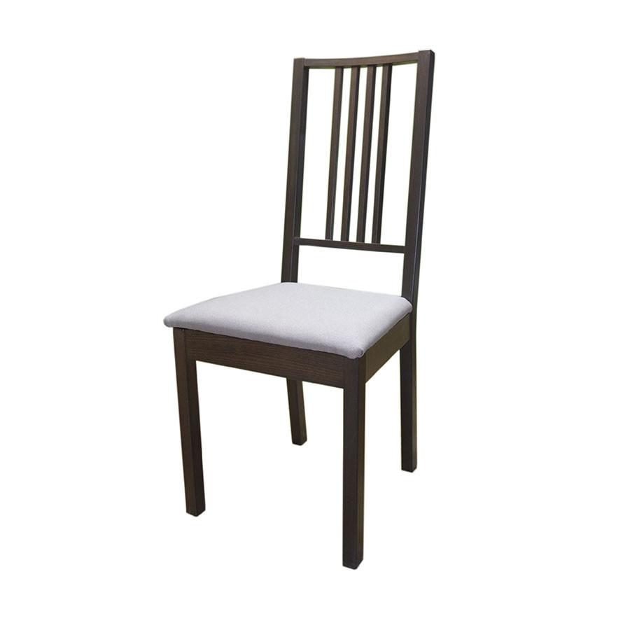 """Стілець буковий з м'яким сидінням """"Люкс-2"""", коричневий"""