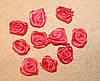Атласная розочка коралловая 758  упаковка 10 шт