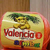 Пряжа полушерстяная детская (40%-шерсть, 20%-вискоза, 40%-акрил, 50г/175м) Valencia Simba 017(персиковый)
