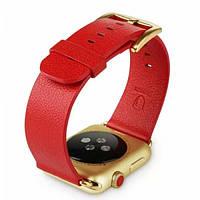 Ремешок кожа Baseus for Apple Watch 42mm red