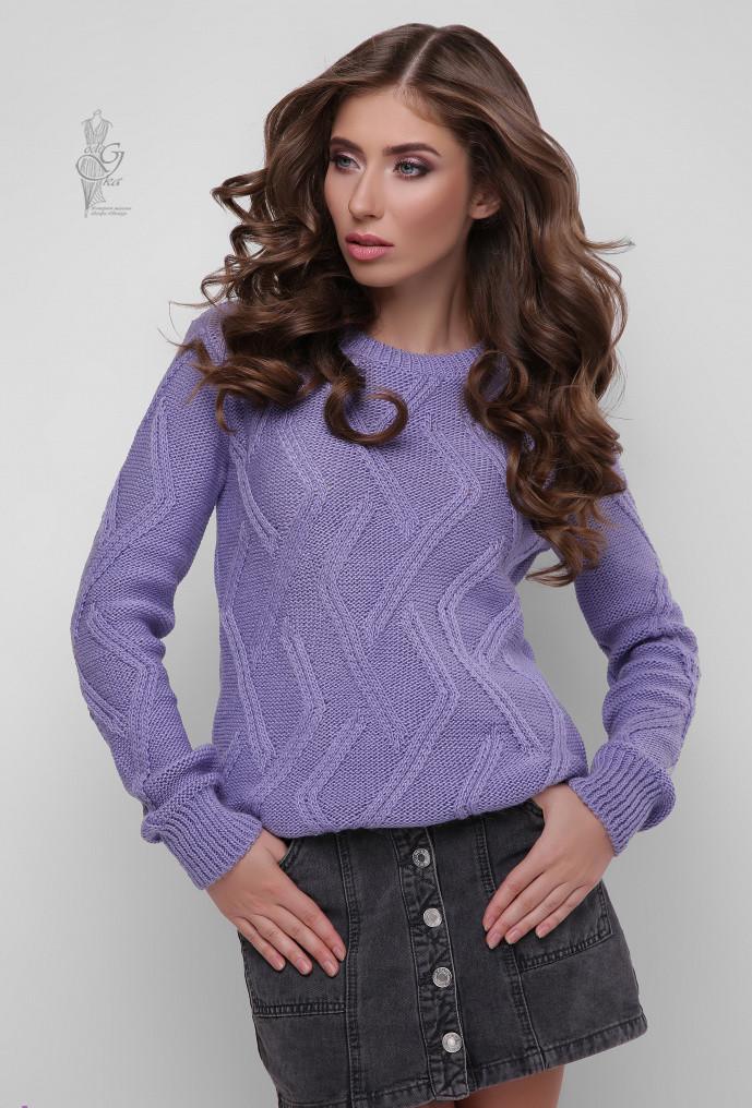 Вязаный женский свитер Маура из шерсти и акрила