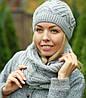 Комплект шапка и шарф теплый шерстяной, фото 5