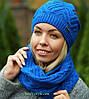 Комплект шапка и шарф теплый шерстяной, фото 6