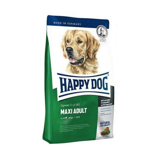Happy Dog FIT & WELL MAXI ADULT - корм для собак крупных пород, 4 кг