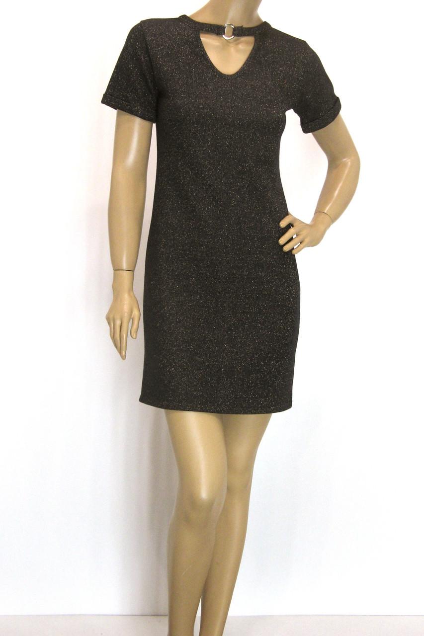 трикотажне плаття з люрексом сезон осінь-зима