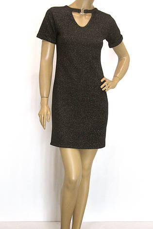 трикотажне плаття з люрексом сезон осінь-зима, фото 2