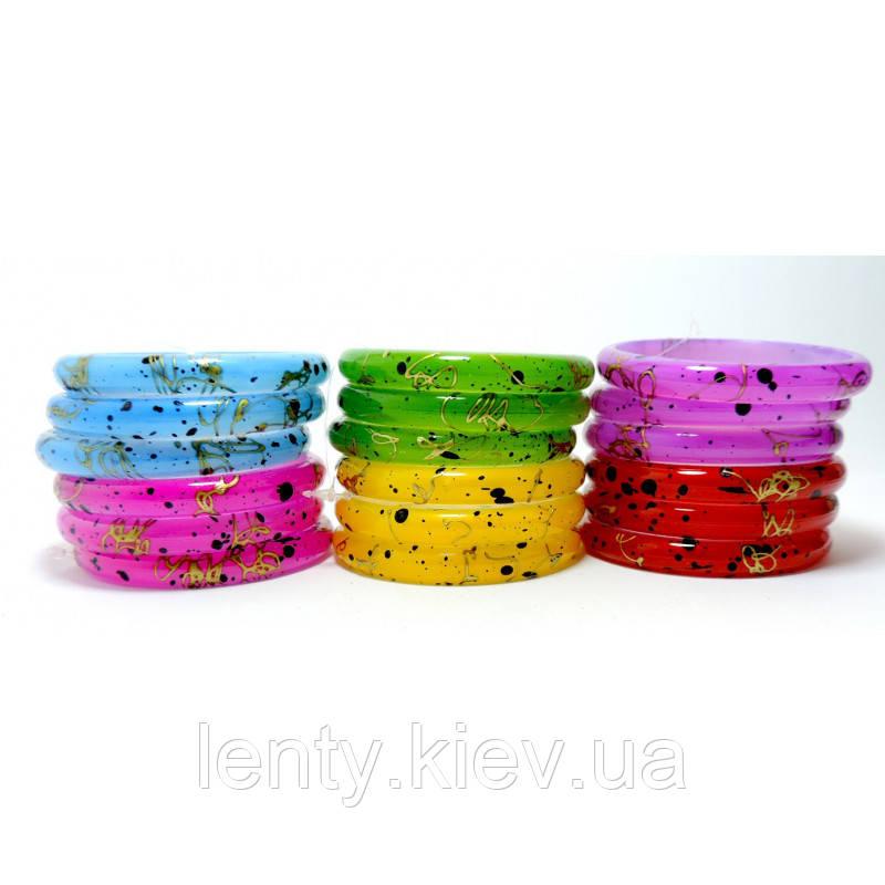 Браслеты пластмассовые детские кольца