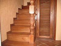 Шпатлевка деревянных лестниц в Киеве
