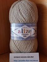 Полушерстяная пряжа (49%-шерсть,51%-акрил,100г/800м)  Alize Lanagold 800  (152 светло- бежевый)