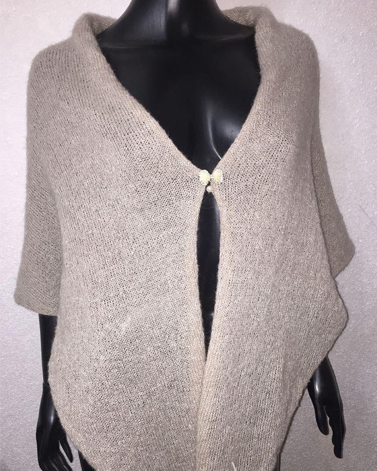 вязаний платок хустка з мохеру эксклюзивный шарф шаль бактус из