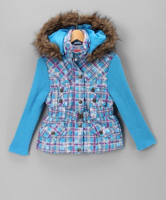 Красивая яркая курточка с вязанными рукавами (Размер 2-3Т) DOLLHOUSE  (США)