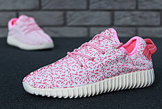 Женские кроссовки Adidas Yeezy 350 Pink/White топ реплика
