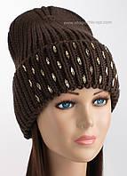 Вязаная шапка-колпак Афродита цвет кофе