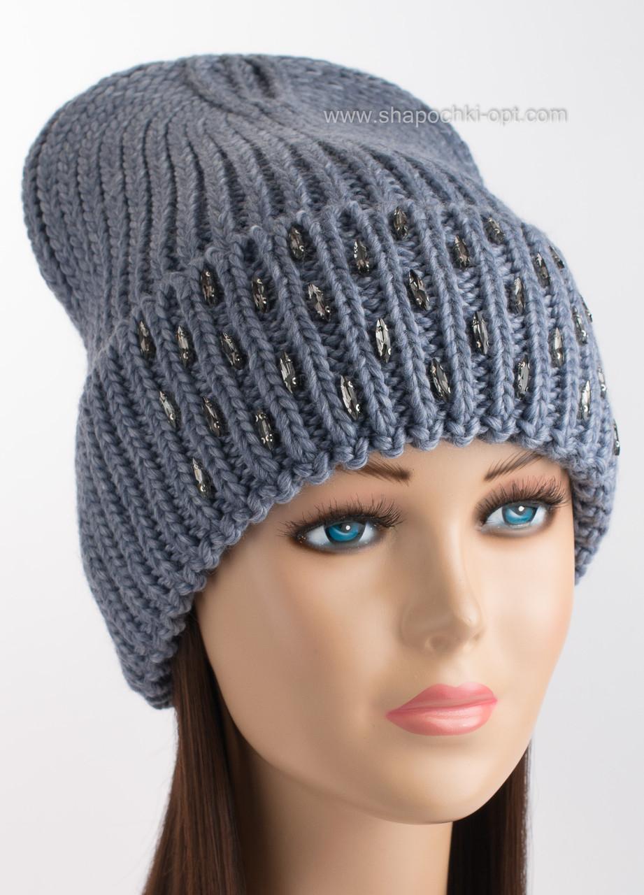 зимняя вязаная шапка афродита цвет синева продажа цена в одессе