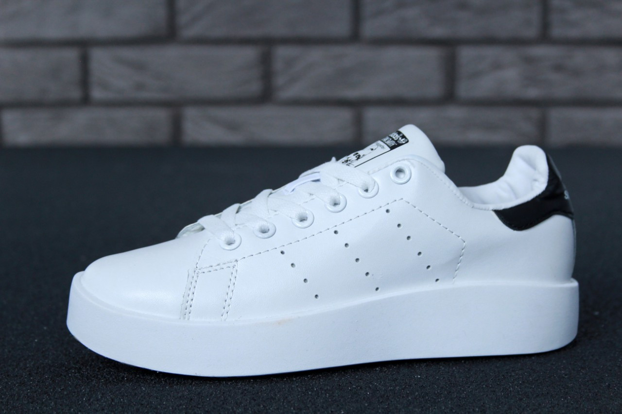 41486b273bfedd Женские кроссовки Adidas Stan Smith Bold White/Black топ реплика -  Интернет-магазин обуви