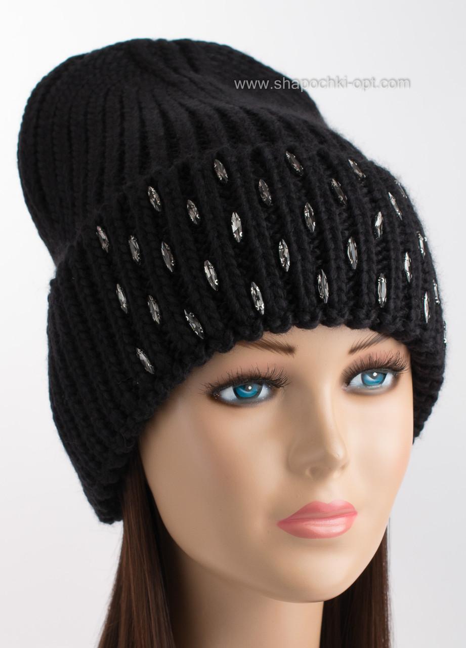 женская вязаная шапка афродита черного цвета продажа цена в одессе