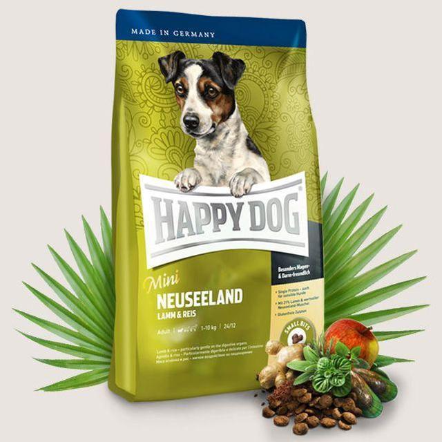 Happy Dog Mini Neuseeland - корм для собак мини пород (ягненок,рис) 4 кг