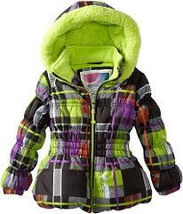 Яркая теплая курточка на флисе на холодную осень (Размер 5-6Т) Big Chill (США)