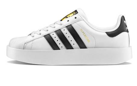 Женские кроссовки Adidas Superstar Bold Platform White/Black, фото 2
