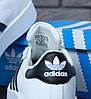 Женские кроссовки Adidas Superstar Bold Platform White/Black, фото 6