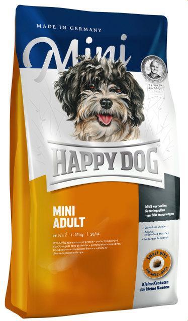 Happy Dog Supreme - Mini Adult для взрослых собак мелких пород (весом до 4 кг), 0.3 кг