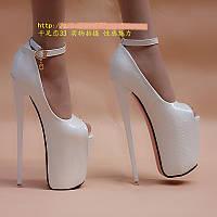 Супер туфли ультра высокий каблук 19 см 2 цвета размер с 34 по 50 !, фото 1