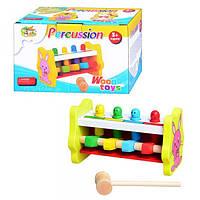 Дерев'яна іграшка Стукалка MD 0326 в коробці, 18 см.