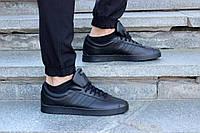 Черные кожаные кроссовки Adidas VL Court 2.0 оригинал AH2597