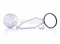 """Зеркала  M10  мото  круглые  D125mm, хром  +переходники M8  """"LIPAI"""""""