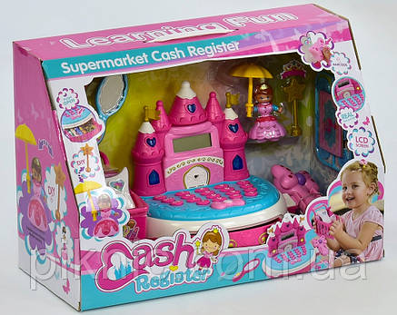 Детская касса Принцесса музыкальный. Игрушечный кассовый аппарат, магазин, подарок девочке, фото 2