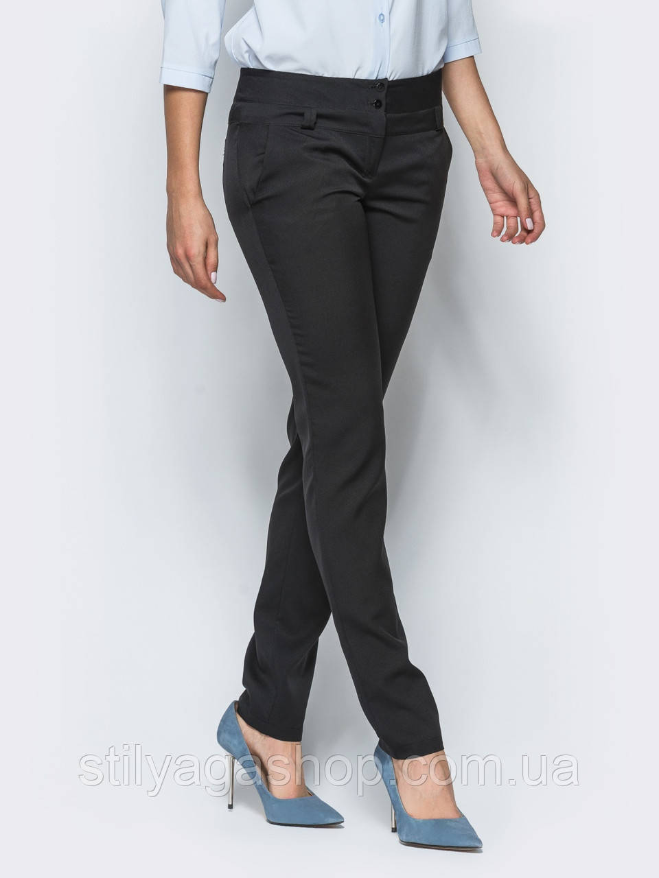 XS, S, M, L, XL/ Базовые брюки классического кроя с боковыми карманами