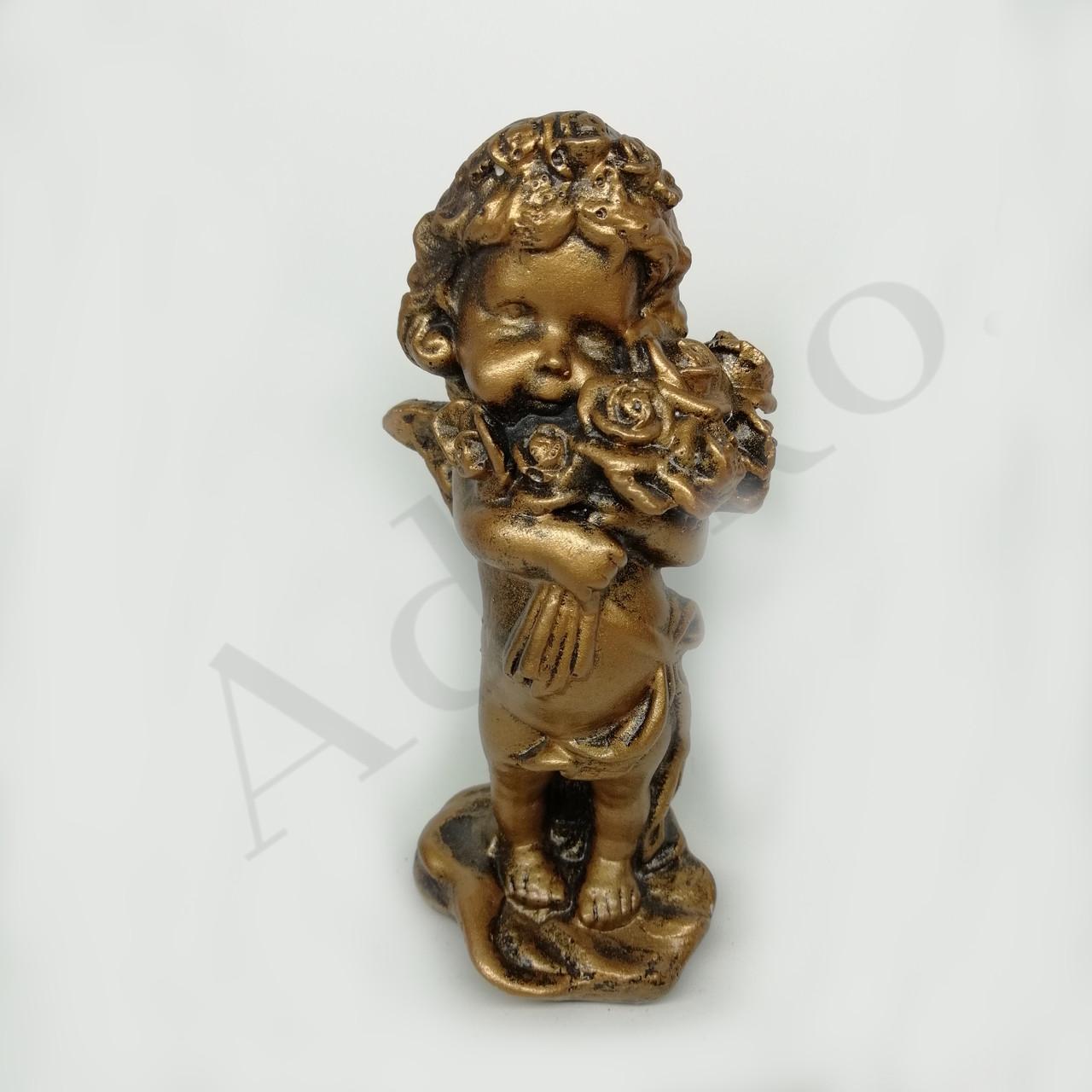 Декоративна фігурка Янгол з трояндами 13 см