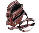 Мужская кожаная сумка Dovhani Bon101-3LCoffee Коричневая, фото 8