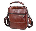 Мужская кожаная сумка Dovhani Bon101-3LCoffee Коричневая, фото 4