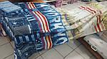 Постельное бельё Нью-Йорк, перкаль Двуспальный Евро  на  резинке.Комплект постельного белья, фото 3