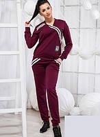Спортивный бордовый костюм двойка 819302