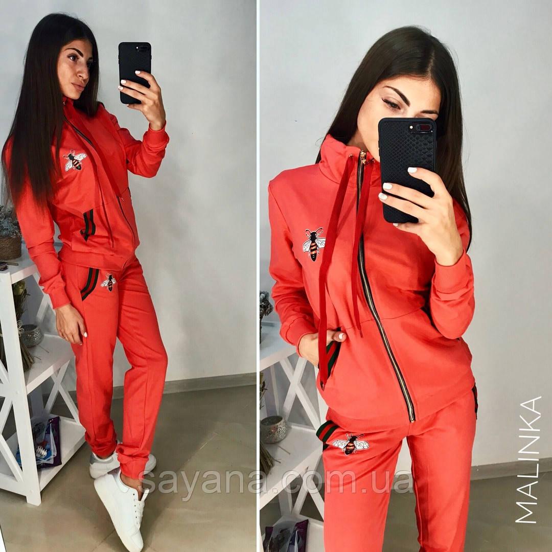 Женский спортивный костюм с декором в расцветках. МК-3-0918