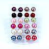 Серьги гвоздики 12 пар модная бижутерия набор, фото 5