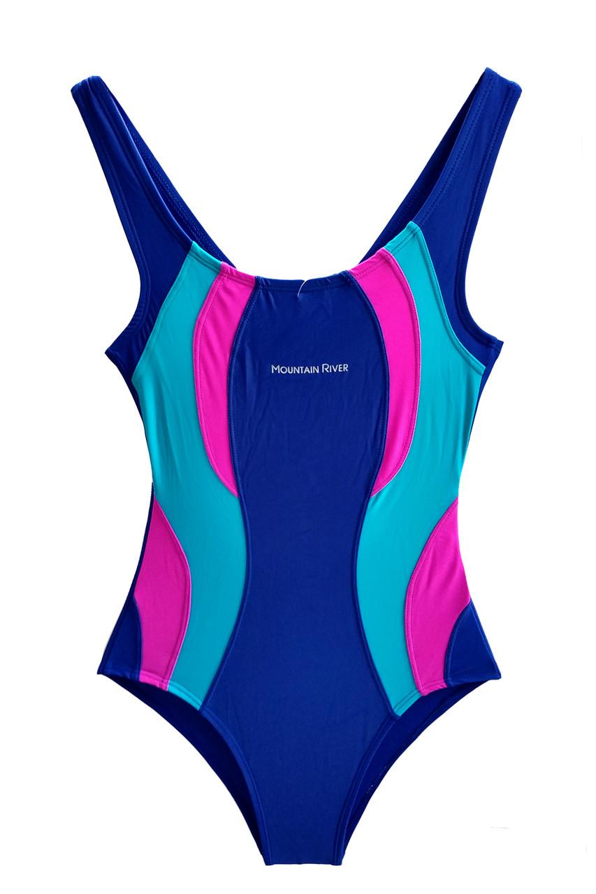cb1c17c08b066 Совместный детский купальник для бассейна Темно-синий + голубой -  Интернет-магазин одежды Lagracia