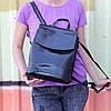 """Кожаный рюкзак-сумка (трансформер) с теснением под змеиную кожу """"Питон Black"""""""