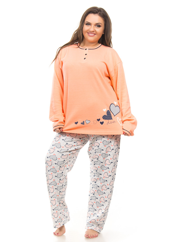 d10dca74cfc14 Теплая пижама женская большого размера - Интернет-магазин