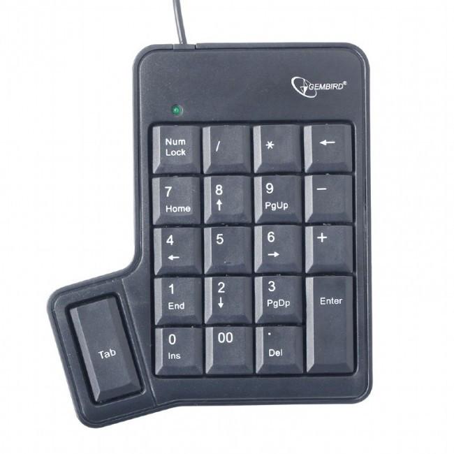 Клавиатура Gembird KPD-UT-01 цифровая клавиатура, USB, Black